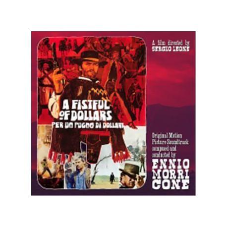 """Ennio Morricone – A Fistful Of Dollars (Per Un Pugno Di Dollari) - 10""""LP Clear"""