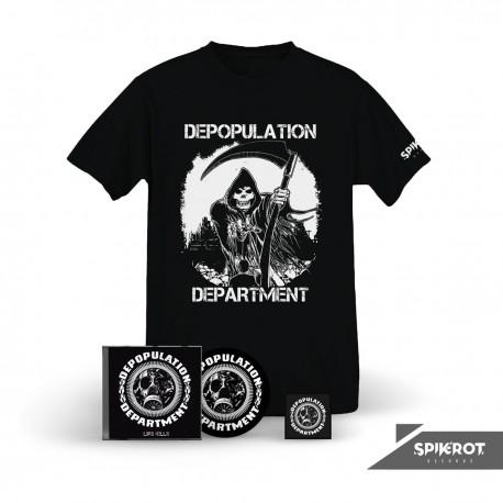 Depopulation Department - Life Kills - CD + T-Shirt Bundle (+ FREE Patch)