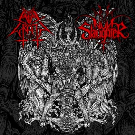 NunSlaughter / Evil Wrath ‎– The Hammer Of Satan - Split 7""