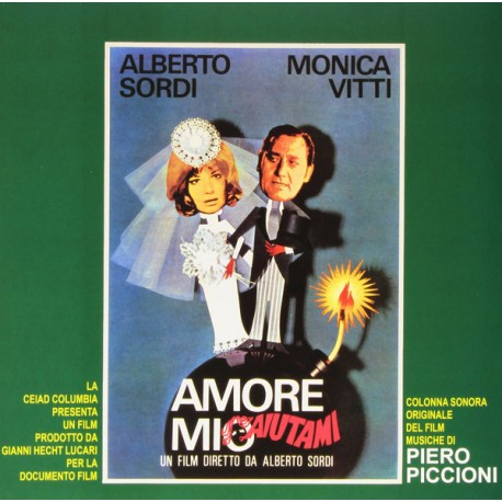"Piero Piccioni ‎– ""Amore Mio Aiutami"" Original Soundtrack - LP Green"