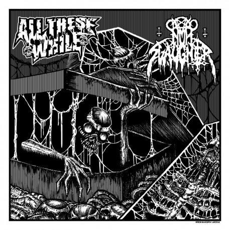 All These While/ Nunslaughter - Split 7""