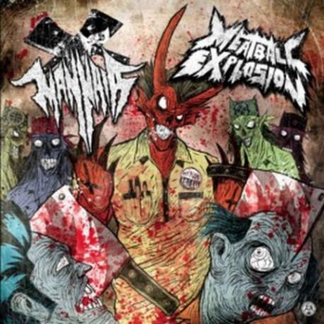 Mannaia / Meatball Explosion - Split LP