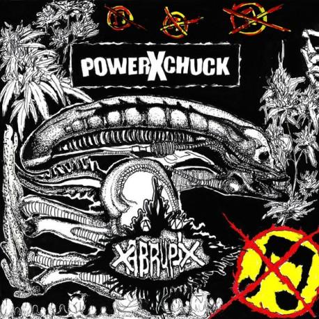 """POWERXCHUCK / xABRUPTx - Split 7"""" Pink"""