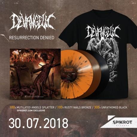 Devangelic - Resurrection Denied LP + T-Shirt Bundle